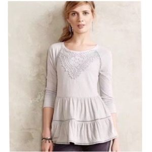 Anthropologie Meadow Rue Tiered Top Small